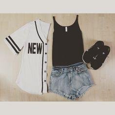 Women Baseball Outfit for the Summer Season ⚾️ #le3no #baseball #jersey