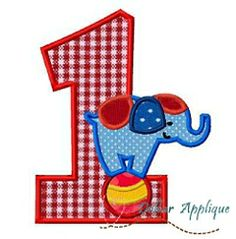 Circus Elephant 1 Applique - 3 Sizes! | What's New | Machine Embroidery Designs | SWAKembroidery.com Dollar Applique