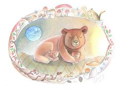 Watercolors: Cuddly Bears.
