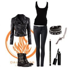 """Divergent - Dauntless - The brave"" by mockingaby on Polyvore ---costume idea---"
