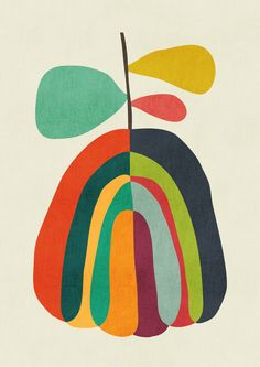 Harvest Season Art Print pattern by Picomodi Art And Illustration, Illustrations, Framed Art Prints, Canvas Prints, Mid Century Art, Painting Inspiration, Art Projects, Abstract Art, Drawings