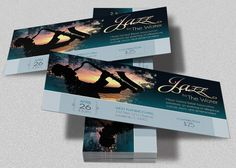 """Jazz Concert Event Ticket Template is customized for any Jazz event. Festivals, Concerts, Banquets, Clubs and Fund-raising events. It's paint effect and color makes it an attractive and elegant piece. The template is Easy To Edit. All you need to do is, """"Edit, Save, Print"""" This template is a set of"""
