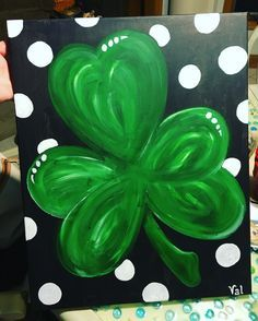 Image result for shamrock painting