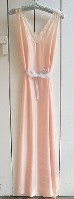 VINTAGE ROMANTIC PETAL PINK NIGHTGOWN UNDERCOVER WEAR LINGERIE HOLLYWOOD GLAM ~SZ~S