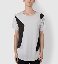 ISAORA Grey Color Block Printed T-Shirt | Hypebeast Store