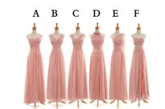 Long chiffon Pleated bridemaid dress in different style For PARTY DRESSES on Etsy, $99.00