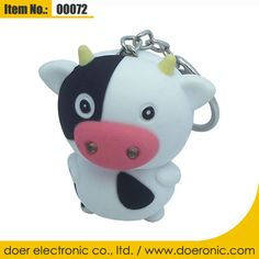 Cow Sound Mini Flashlight Keychain Key Holders | Doer Electronic the Animals Novelty Gadgets Supplier from China, Welcome to the World of Animals Fun.