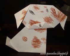 askartelua: eläimet, koira, origami  http://ipanaaskartelua.blogspot.fi/2012/01/koira.html