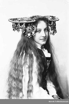 A Norwegian Bride, silver wedding crown. Lund, Norwegian People, Bridal Crown, Folk Costume, Costumes, Headdress, Headpiece, Headgear, Vintage Images