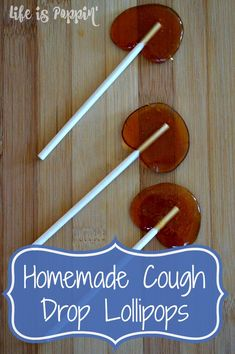 Try this Homemade Cough Drop Lollipops recipe the next time you or your little one needs something to soothe your sore throats and coughs.