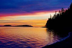Sunrise in Haida Gwaii