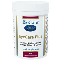 BioCare EyeCare Plus eye vitamins and minerals with botanical extracts