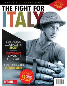 The Fight For Italy - now available on newsstands across Canada! Italian Campaign, Sicily, Canada, Cover, Blanket