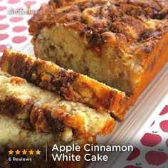 Apple Cinnamon White Cake | This buttery fall favorite comes together in a flash but tastes like you spent all day baking. Yum!