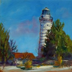 Lighting the Lake 6 x 6 oil on copper Honorable Mention 2015 Cary Gallery of Artists www.sheffieldartstudio.com