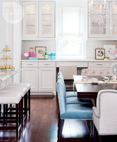 White kitchen with color