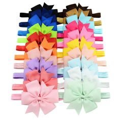 >> Click to Buy << 4 Inch Bowknot Hair Bow Headbands Grosgrain Ribbon Elastic Hair Bands For Newborn Hair Accessories #Affiliate