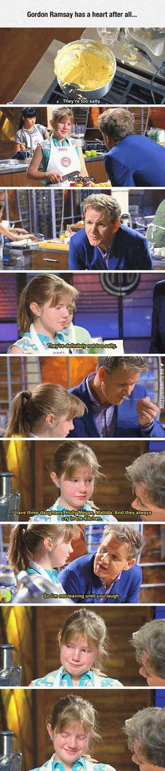 Funny pictures about When Gordon Ramsay Shows His Good Side. Oh, and cool pics about When Gordon Ramsay Shows His Good Side. Also, When Gordon Ramsay Shows His Good Side photos. Gordon Ramsay Funny, Gordon Ramsay Shows, Gordon Ramsey, Stupid Funny, Hilarious, Funny Stuff, Crazy Funny, Funny Things, Funny Love Pictures