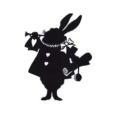 White Rabbit wall decal: