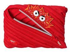 ZIPIT Talking Monstar Big Pencil Case Red