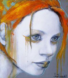 sauvage, painting by joan dumouchel, via galerie blanche #art #painting #redhead #portrait #joandumouchel