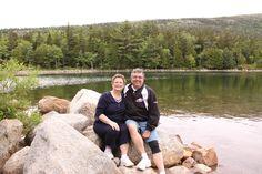 At Jordan's Pond in Arcadia National Park, Bar Harbor, Maine