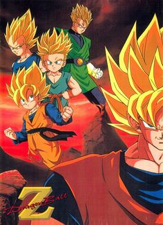 Dragon Ball Z (Trunks, Goku, Gohan, Vegeta, Goten)
