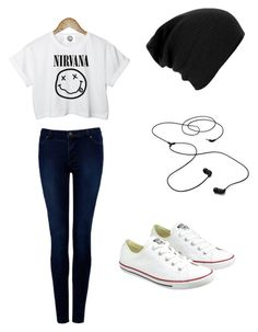"""Untitled #25"" by narrysbrownies ❤ liked on Polyvore featuring CC, Forever New, Converse and AIAIAI"