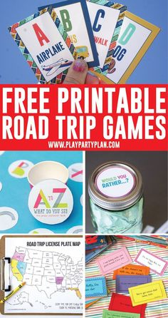 The best list of printable road trip games and road trip ideas for kids! Everything from road trip bingo to road trip scavenger hunts and more! #roadtrip #road #printable #printable #familytravel #freeprintable