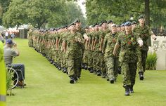 Parade at Groesbeek cemetery by Canadian Army. This cemetery contains the graves of the soldiers, many of them Canadian men, who fought the last battles to liberate The Netherlands.