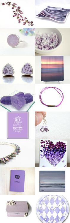 Perfect Purples by Jen B. on Etsy--Pinned with TreasuryPin.com #purple #summer #shopping #accessories