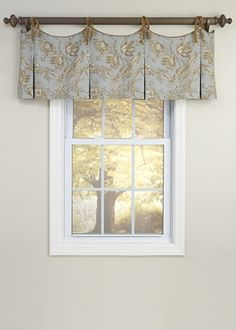 Scalloped Tie Top Valance