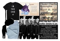 """""""R.I.P Chester Charles Bennington (March 20, 1976-July 20, 2017)"""" by xxteenage-dirtbagxx ❤ liked on Polyvore featuring art"""