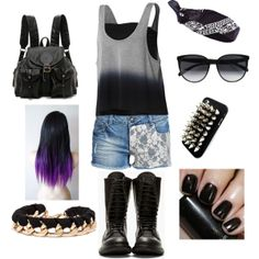"""rock"" by milky-silvers on Polyvore"