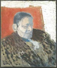study for a 1949 painting of TS Eliot by Patrick Heron, c/o National Portrait Gallery, London