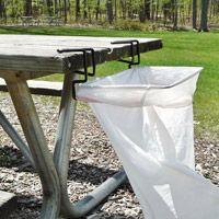 Trashease- portable trash set up- good for craft tables, tailgates, picnics, camping, etc.