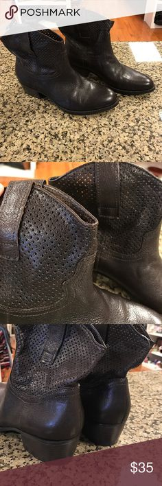 "BCBG Ankle Boots Brown, leather upper. Great condition, only worn a couple times. 1.5"" heel. Big fifi. 6.5B BCBGeneration Shoes Ankle Boots & Booties"
