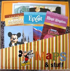 Maps & stuff pocket page - Scrapjazz.com  Good idea for our D.C. trip souvenirs!