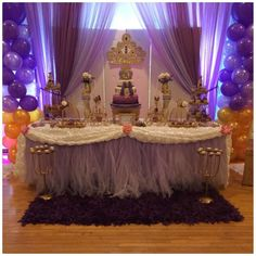 Sofia the First Birthday Party Ideas & Sofia the First Birthday Party Ideas | Pinterest | Tulle table skirt ...