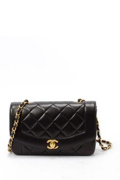 Vintage Chanel Lambskin Matelasse Chain Shoulder Bag