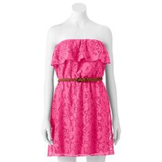 Trixxi Lace Ruffle Dress - Juniors kohls