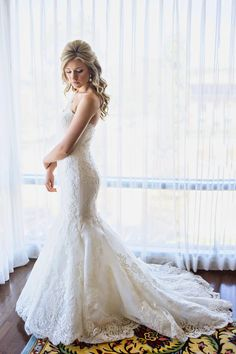Ivory Strapless Wedding Dress With Lace Overlay | Kristeen Labrot Events | Design Visage https://www.theknot.com/marketplace/design-visage-costa-mesa-ca-161919 | William Innes Photography https://www.theknot.com/marketplace/william-innes-photography-santa-clarita-ca-421209