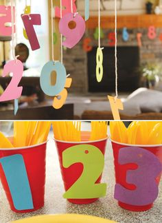 Numbers party theme -- would be great for a Chicka Chicka Boom Boom party!