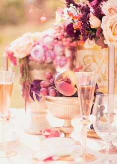 peach and plum fall wedding inspiration by Utah Events by Design - photo by Alixann Loosle