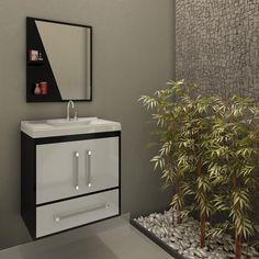 Harmonia na decoração e praticidade na organização do seu banheiro.