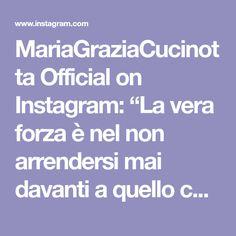 """MariaGraziaCucinotta Official on Instagram: """"La vera forza è nel non arrendersi mai davanti a quello che sembra impossibile.....the real strength is in never giving up in front of…"""" Up, Hearts, Instagram, Heart"""