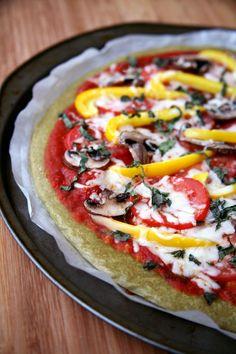 Quinoa pizza crust to satisfy your pizza cravings!