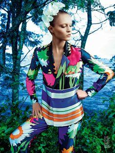 visual optimism; fashion editorials, shows, campaigns & more!: poder tropical: paloma passos by eduardo rezende for marie claire brasil sept...