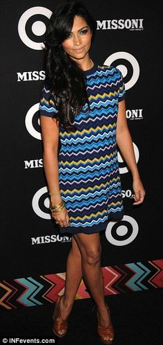 3d793f3579 Stars in stripes  Fashionable young actresses Camilla Belle and Emma  Roberts steal the show at Missoni for Target event