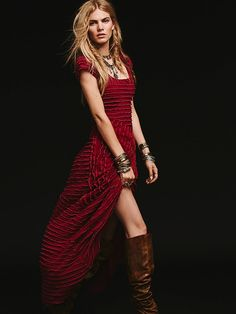 Free People FP X Ruffle Rows Maxi at Free People Clothing Boutique